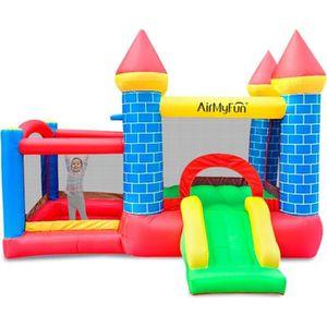 AIRE DE JEUX GONFLABLE Château Gonflable Play4Fun Castle Bouncer Deluxe a