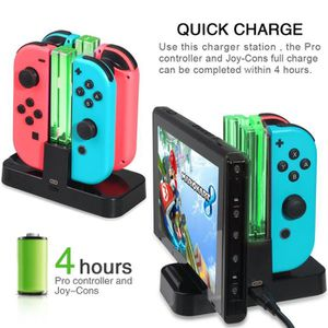 DOCK DE CHARGE MANETTE 4 in 1 USB Dock de récharge pour Nintendo Switch G