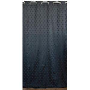 RIDEAU Rideau tamisant à pois Noir 180 x 260 cm