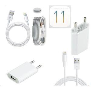 CHARGEUR TÉLÉPHONE Chargeur Secteur + Cable Usb pour Iphone 7 / 7Plus