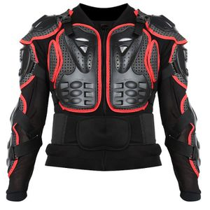 BLOUSON - VESTE Rouge Motocross Off-Road Protecteur Moto Full Body