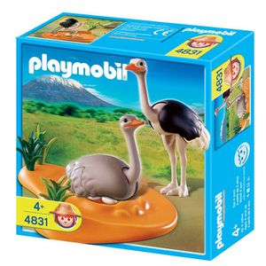 UNIVERS MINIATURE Playmobil Couple d'autruches et nid