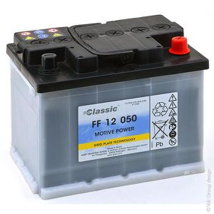 BATTERIE VÉHICULE Batterie plomb traction FF12050 12V 50Ah A