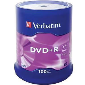 CD - DVD VIERGE Verbatim Spindle de 100 DVD+R 4,7 Go 16x - surf…