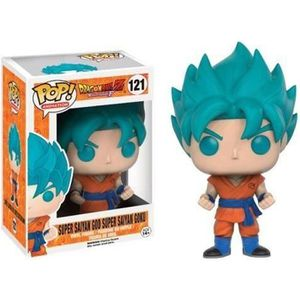 JOUET Figurine Dragon Ball Z - Super Son Goku God Blue E