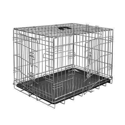 VADIGRAN Cage métallique pliable Classic - 61 x 46 x 51 cm - Argent -Pour chien