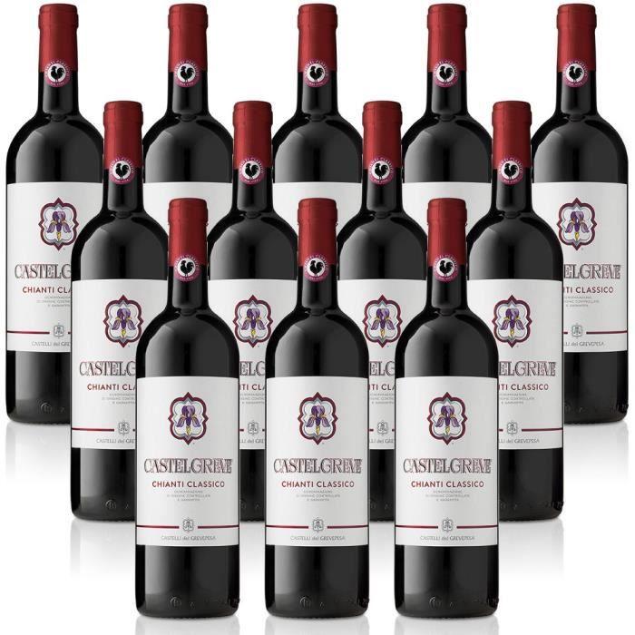 vin rouge italien Chianti Classico DOCG Castelgreve cl. 37,5 Castelli del Grevepesa Castelgreve 12 bouteilles