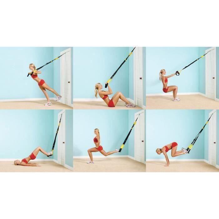 Original Sangles de Suspension Système, Original Fitness Sangles de Musculation Strap Kit pour Entraînement de Musculation