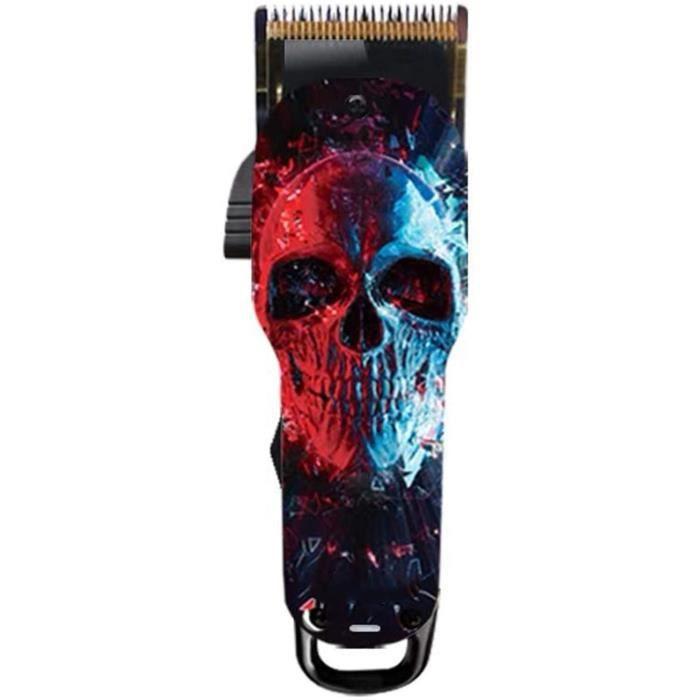 TONDEUSE A BARBETrondeuse agrave cheveux sans fil pour hommes Squelette de cheveux Squelette design Coup de cheveux eacutelectri2384