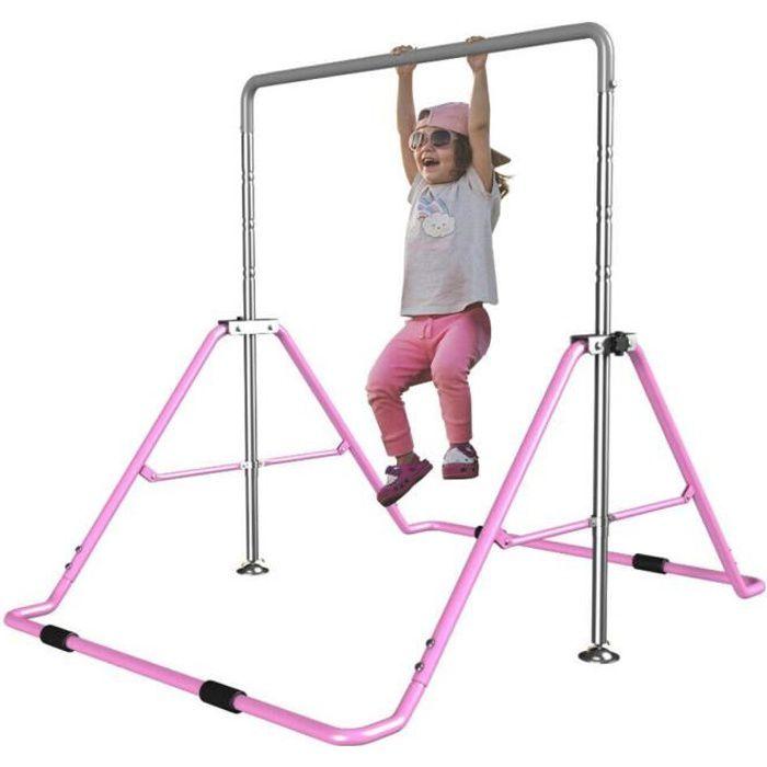 Barres d'Entraînement de Gymnastique pour Enfants Réglables Enfant Gymnastique Pull Up Exercise Stand