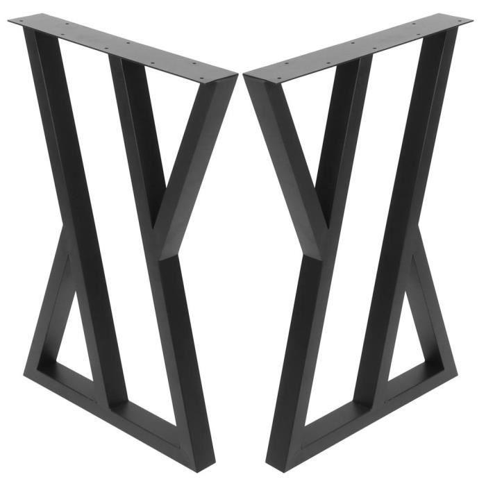 Akozon Pied de table basse Bricolage Meubles Jambes Moderne Industriel En Fer Forgé Table À Manger Jambe Accessoires Noir