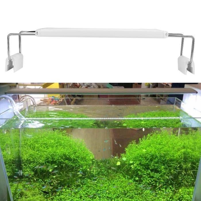 Highlight LED Light Lamp avec support pour l'éclairage de réservoir de poissons d'aquarium 200-240V 5W 60CM-70CM