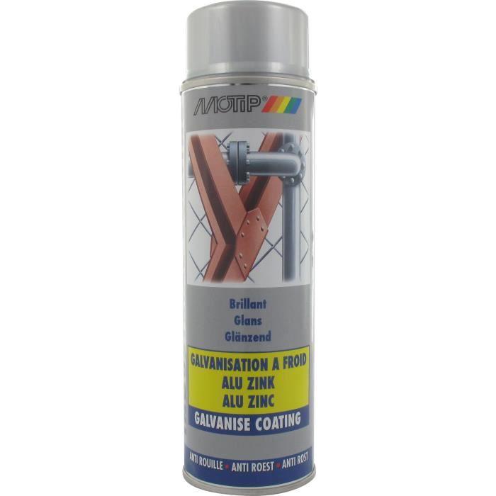 MOTIP Peinture - bombe galvanisation à froid Alu-Zinc Spray 500ml Réf. M07302 - OD