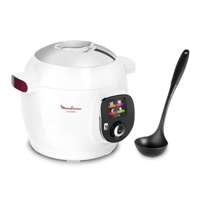 MOULINEX COOKEO CE700100 - 100 recettes - 1600W - Blanc