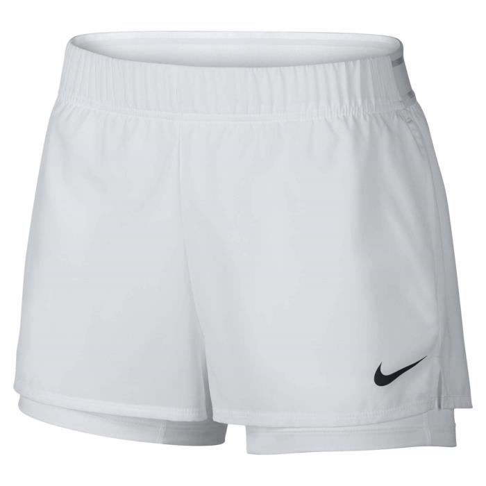 Nike Court Flex Femmes Short tennis blanc