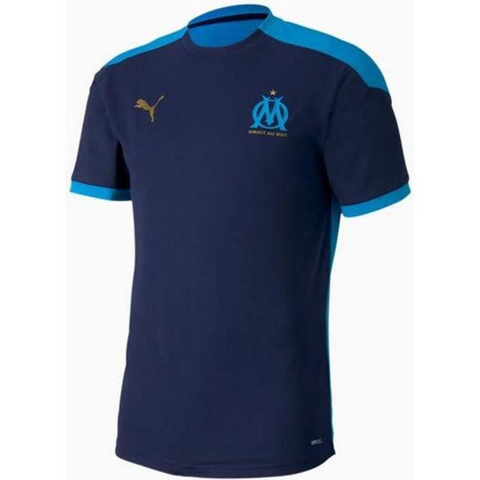 Nouveau Maillot Officiel D'Entrainement Homme Puma OM Olympique de Marseille Saison 2020-2021 Bleu