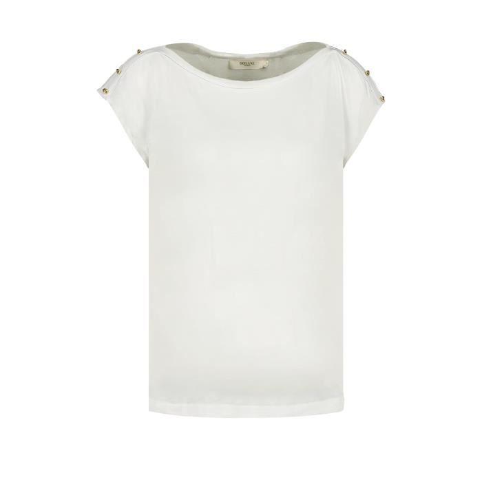 DEELUXE T-shirt détails bijoux LYSE Off White