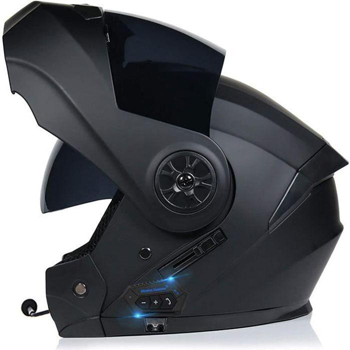 Bluetooth Casque de Moto Casque Modulable Moto Casque intégral Full Face Racing Casque de Moto ECE Homologué Scooter de vélomoteu25