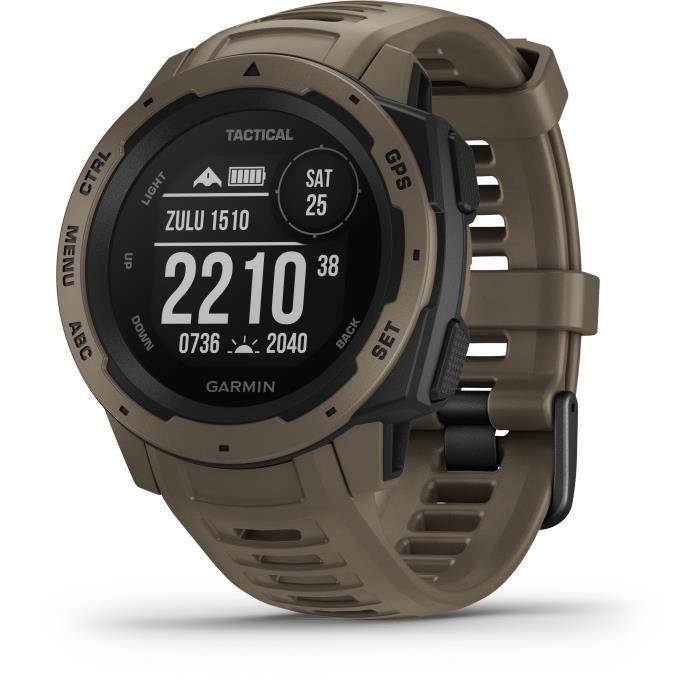 Garmin Instinct Tactical Edition - Montre GPS robuste avec fonctions tactiques - Coyote