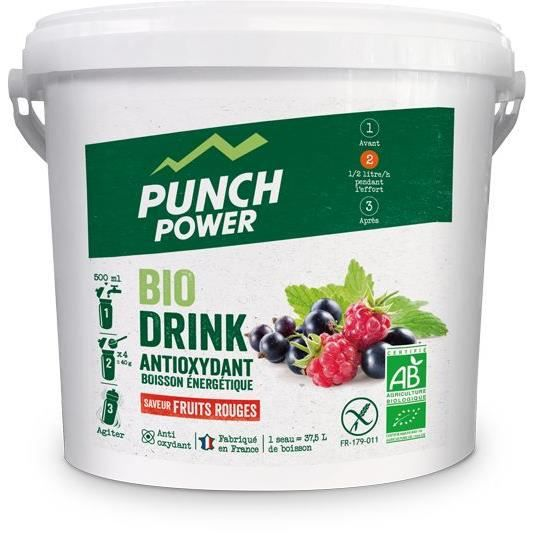 PUNCH POWER Biodrink Fruits rouges antioxydant - Seau 3 kg