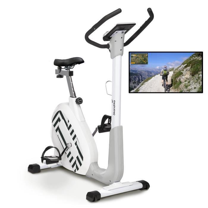 Skandika Elskling - Vélo d'appartement - Selle Relax Tourer - 24 Prog. - 32 Niveaux de résistance - Inertie 11 kg - Bluetooth