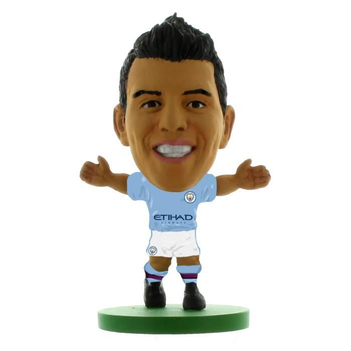 Soccerstarz Manchester City Sergio Aguero - bleu/blanc - TU