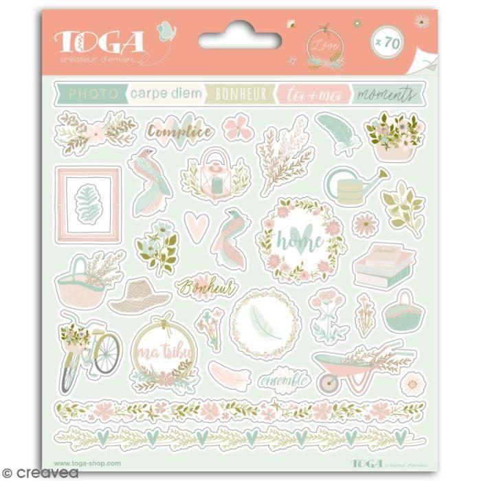 Stickers Toga - Maison de Campagne - 2 planches de 15 x 15 cm