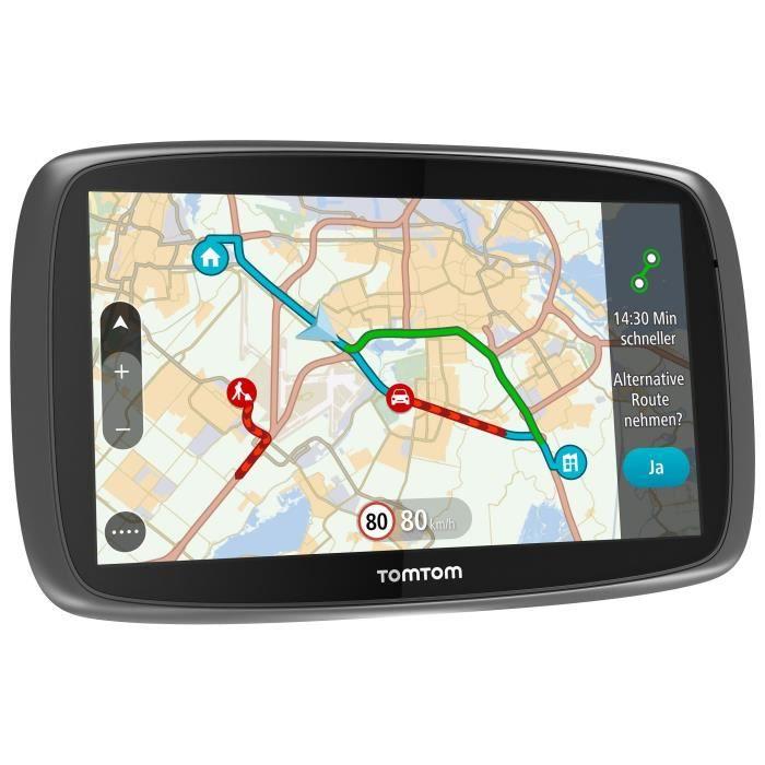 TomTom GO 610 Fixé 6- Écran tactile 300g Noir, Argent - Navigateurs (Monde, 800 x 480 pixels, Flash, MicroSD) (Import Allemagne)