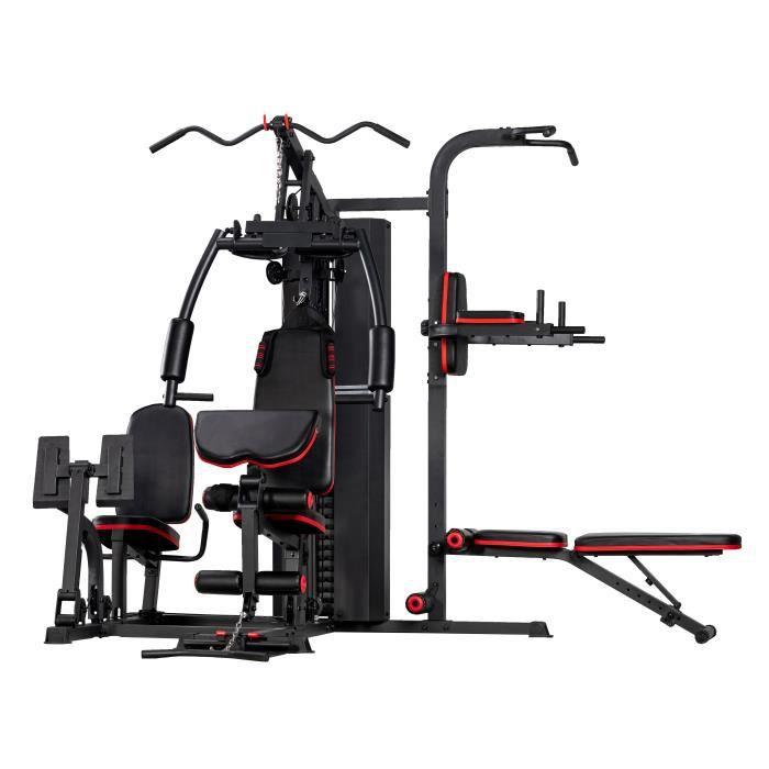 Station d'entraînement multifonctionnelle - Tour de traction - Entraînement de puissance - Entraînement pour les bras, les jambes