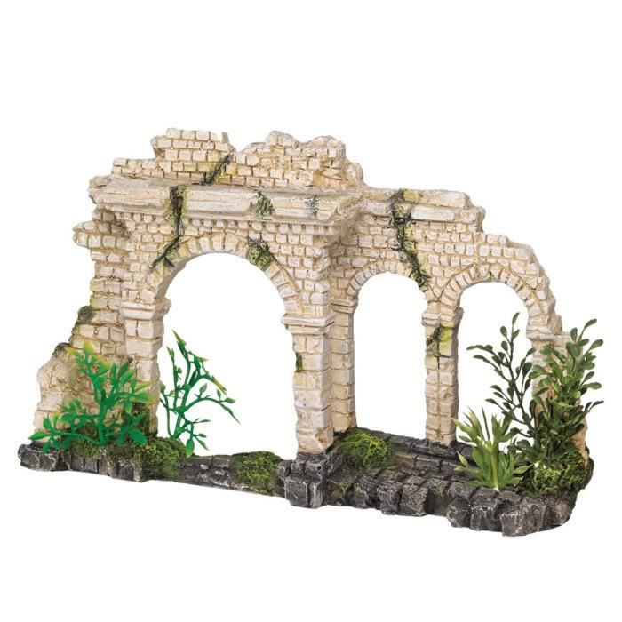 VADIGRAN Aqua Deco Porte à trois arches - 25 x 6,5 x 15 cm