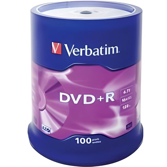 Verbatim Spindle de 100 DVD+R 4,7 Go 16x - surf…
