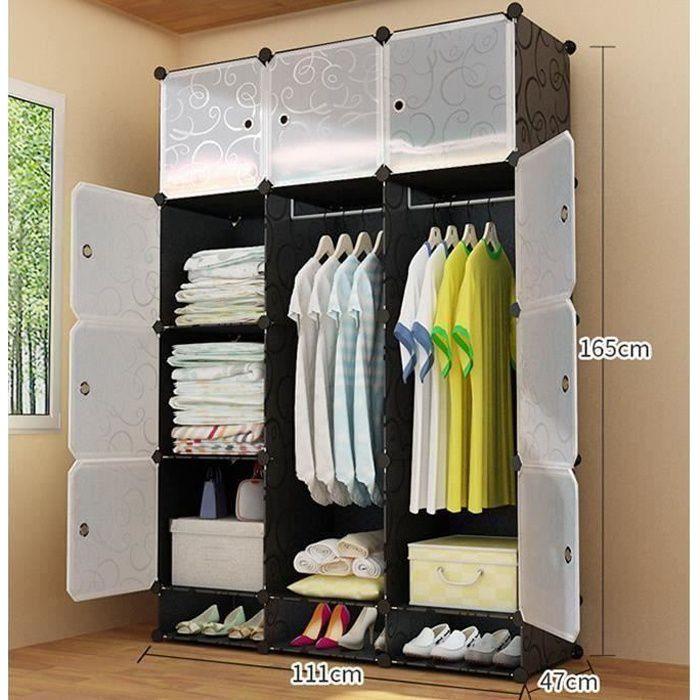ohlala diy armoire penderie portable avec etageres de