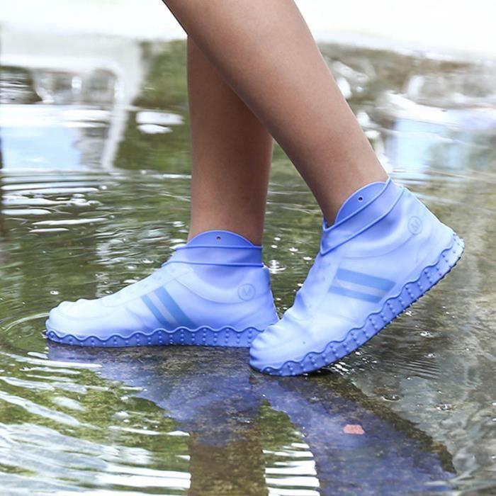 Bleu Couvre-Chaussures Automatiques 1 Paire De Couvre-c=Chaussures Antid/érapants R/éutilisables De Mains Libres Jetables Et R/éutilisables