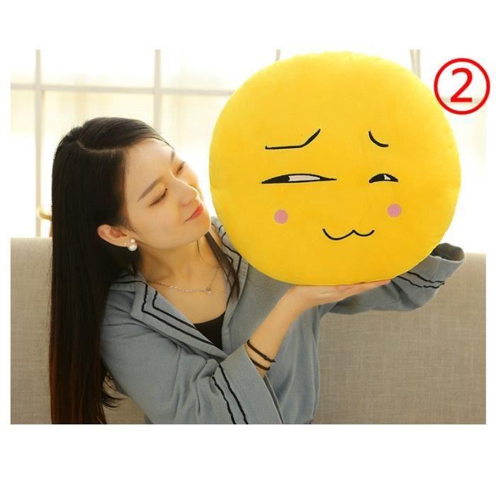 COUSSIN Motif 2 - Coussin Emoji en Peluche Oreiller Jouet