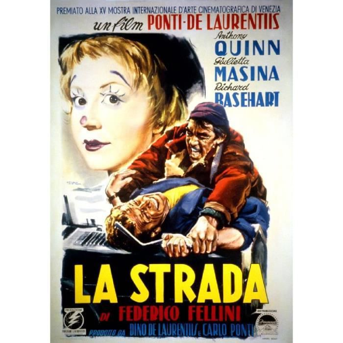 affiche du film la strada 57 x 80 cm achat vente. Black Bedroom Furniture Sets. Home Design Ideas