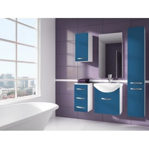 iris bleu salle de bain 1m20 6 elements achat vente salle de bain complete iris bleu salle. Black Bedroom Furniture Sets. Home Design Ideas