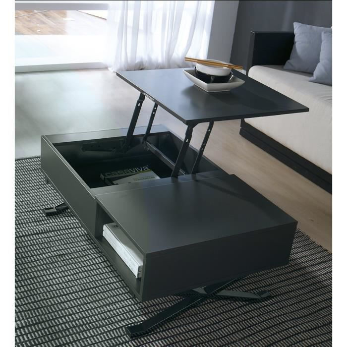 table basse manila laqu gris anthracite tablette. Black Bedroom Furniture Sets. Home Design Ideas
