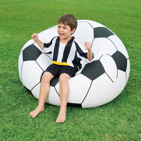 pouf gonflable ballon de foot achat vente pouf poire cdiscount. Black Bedroom Furniture Sets. Home Design Ideas