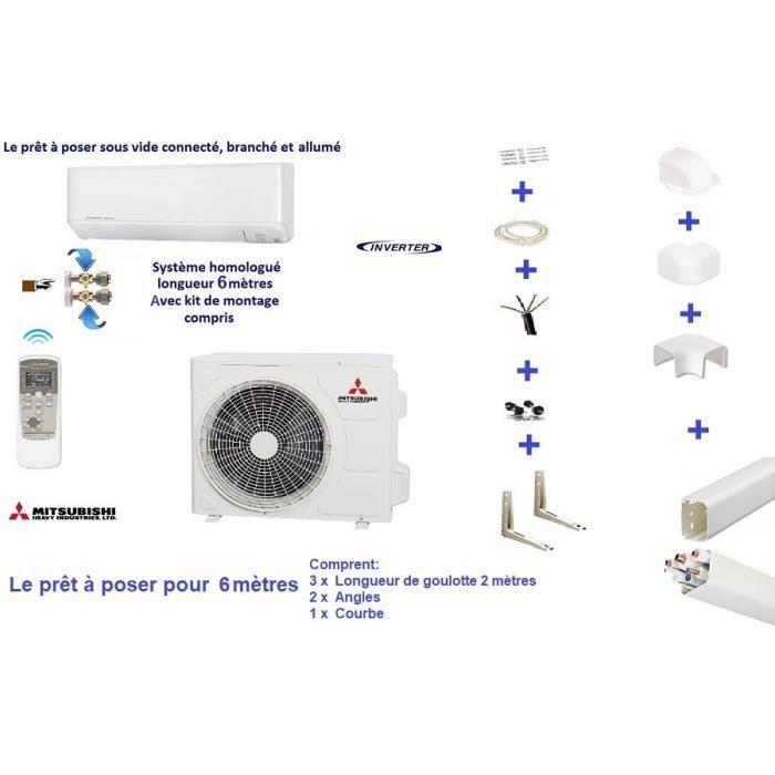 Climatisation Mitsubishi Zmp 3 5 Kw Avec Kit 6 M Sous Vide