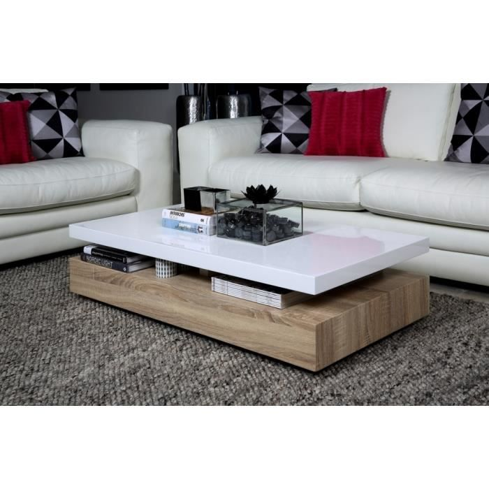 Table Basse Blanc Bois