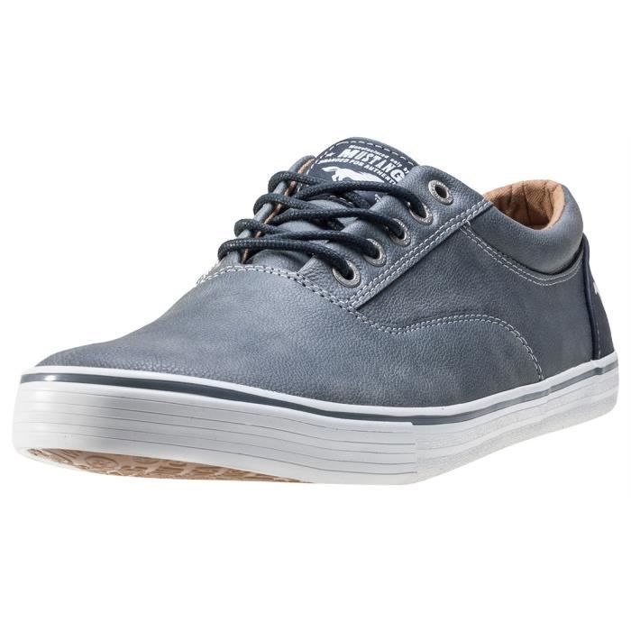 Mustang Casual Low Hommes Baskets Sky Blue - 46 EU