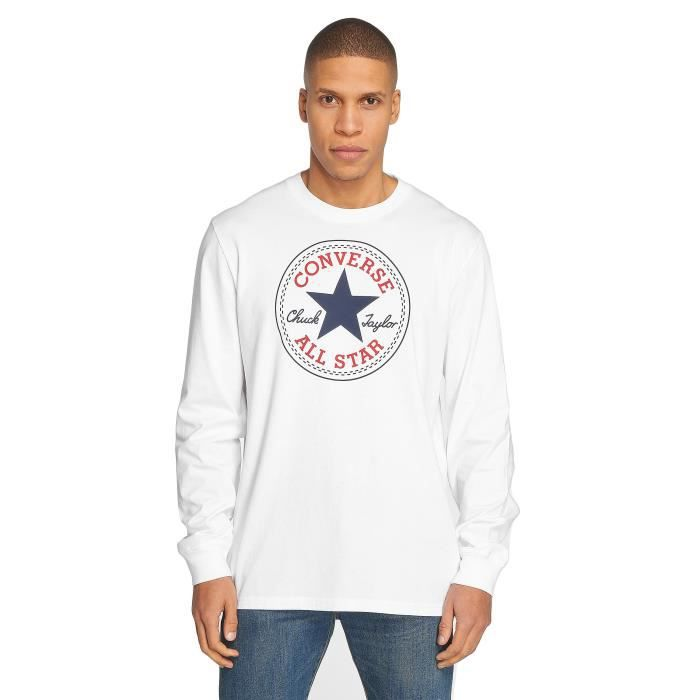 t shirt converse manches longues