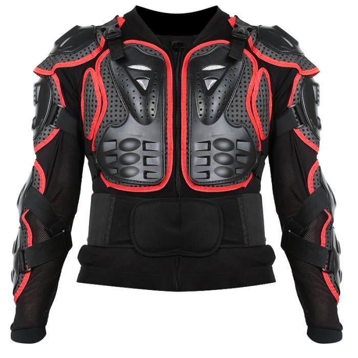 BLOUSON - VESTE Rouge Motocross Off-Road Protecteur Moto Full Body