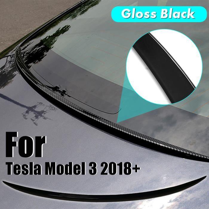 Model 3 Carbon Center Console Kit ABS Panneau de daccoudoir en plastique Autocollant de protection pour le Model 3 Accessoires de protection de la console centrale Carbone mat
