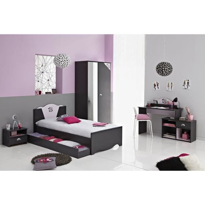 tiroir lit tatoo gris ombre achat vente commode de chambre tiroir lit tatoo gris ombre. Black Bedroom Furniture Sets. Home Design Ideas