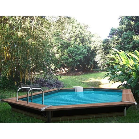 Piscine bois allong e water clip 510 x 320 x 147 optimum achat vente kit - Piscine bois discount destockage ...