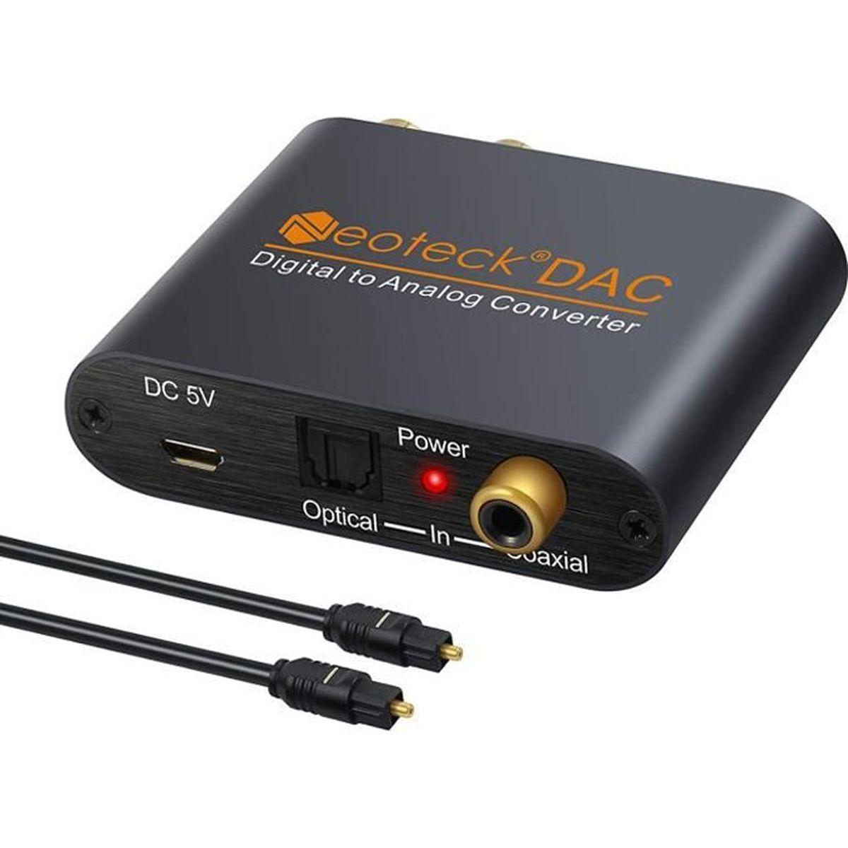 REPARTITEUR TV Convertisseur numérique DAC SPDIF Toslink Coaxial