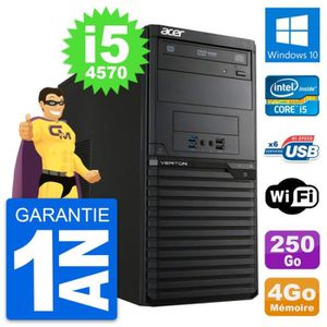 ORDI BUREAU RECONDITIONNÉ PC Tour Acer Veriton M2631 Intel i5-4570 RAM 4Go D