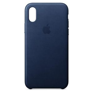 COQUE - BUMPER Coque en cuir pour iPhoneX - Bleu nuit