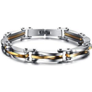 BRACELET - GOURMETTE Hommes Or-Argent Titane Acier Bracelet Manchette C